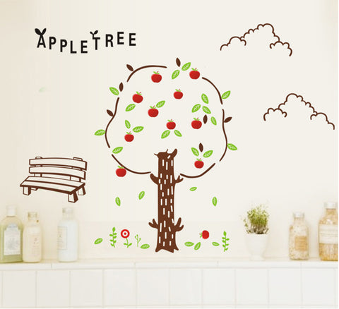 APPLE TREE Kids / Nursery wall decals Removable Wall Sticker