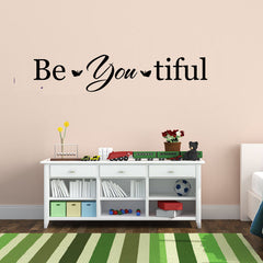 """ Be You tiful "" Vinyl Wall Decal-wall art sticker"