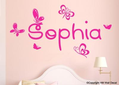 Dora Inspired & Personalised Name Nursery or Kids room Removable wall sticker