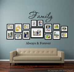 FAMILY ALWAYS & FOREVER DIY Removabel Wall Decal