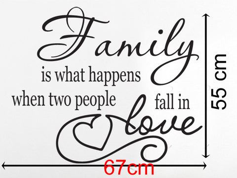 Inspirational Family love Quote Removable wall decal