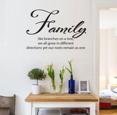 Family like branches on a tree.... Removable wall decal