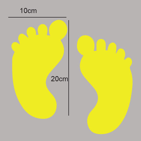 5 sets of foot print Floor Sticker for your business floor