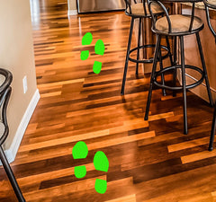 6 sets of foot print Floor Sticker for your business floor