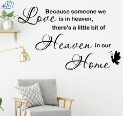 """Heaven in our home..."" - Quote Lettering Wall Art Removable wall sticker Mural"