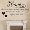 "Image of ""Home is where Love resides…."" - Wall Quote Decal"