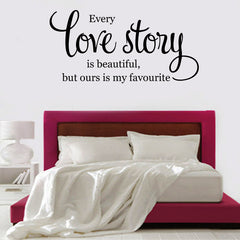 "' love story......"" Quote DIY Wall Decal Removable Wall Art Sticker Mural"