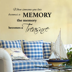 """ When someone you love becomes a....."" Quote Removable wall decal"