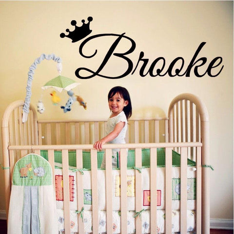 Customise name for Kids HM removable Wall Sticker baby wall decal kids room decor