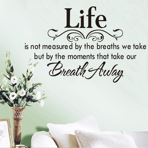 Life Quote Wall Sticker Posters Wall Art Letters Removable Vintage Quotes Home Decals