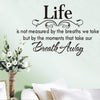 Image of Life Quote Wall Sticker Posters Wall Art Letters Removable Vintage Quotes Home Decals
