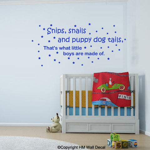Nursery or kids room Removable wall quote decal Wall Sticker Mural