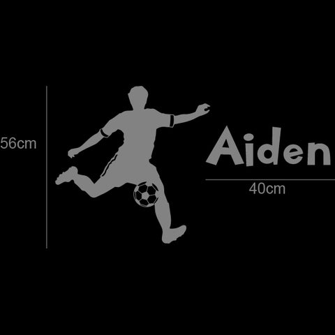 Customised NAME & SOCCER player Removable Wall Sticker vinyl decal