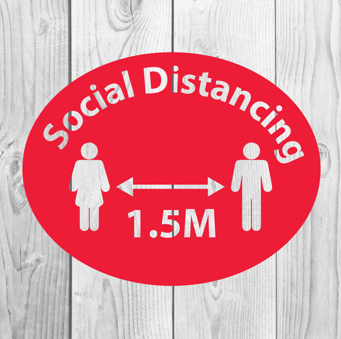 4 Social Distancing Floor Sticker  for your business floor