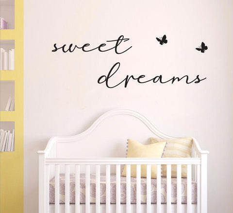 """sweet dreams "" Removable Wall Art Decal HM wall sticker"