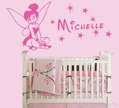 Customise Name & Tinkerbell wall sticker for some one you love