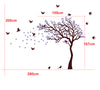 Image of Nursery Cot side tree with birds removable wall decals