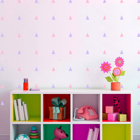 Triangles removable Wall Sticker (Set of 68) Decals, Wall Art Kids / Nursery Decal