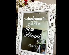 PERSONALISED / Customised wedding welcome mirror Sticker - wedding 9