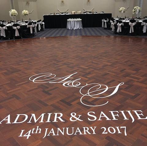 Personalised Customise Wedding Dance Floor Sticker