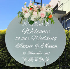 Customised wedding mirror Sticker mirror decal wedding welcome decal