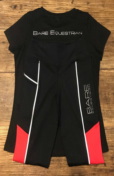 Youth Performance Tights - REFLECTIVE Red