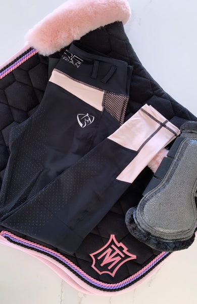 Youth Performance Riding Tights - Blush