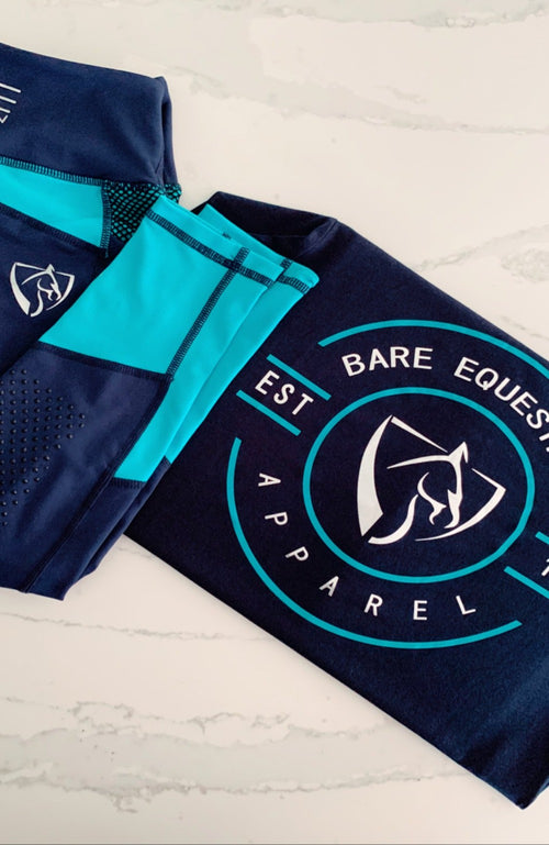 BARE Emblem T-Shirt - Navy, Teal and Silver