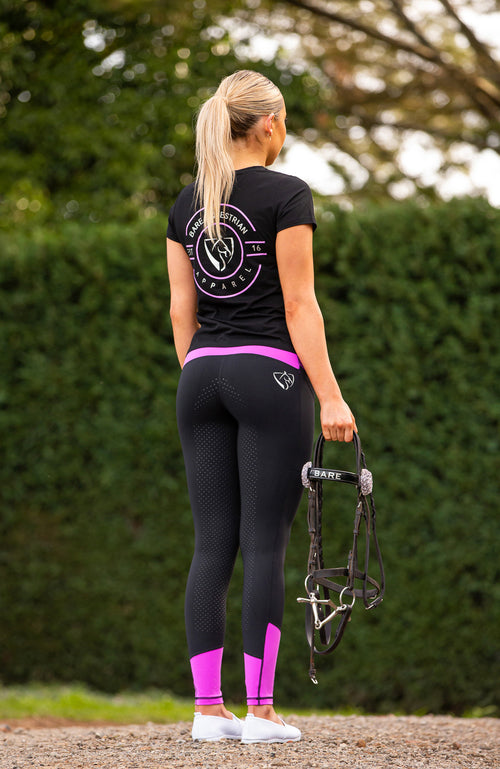 Youth Performance Riding Tights - Dark Glow