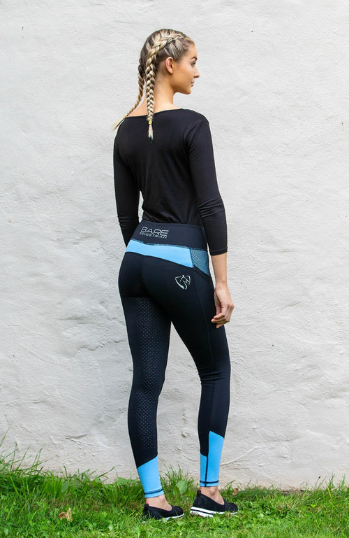 BARE Performance Riding Tights - Periwinkle