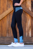 Youth Performance Tights - Periwinkle