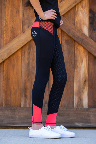 No Grip BARE Riding Tights - Peachy