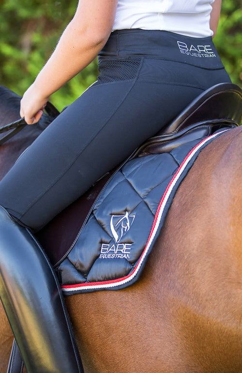 BARE Performance Riding Tights - Black Rider