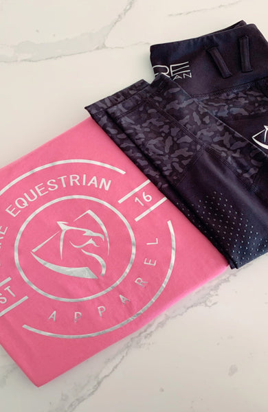 BARE Emblem T-Shirt - Pink and Silver