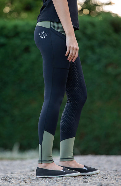 Youth Performance Riding Tights - Military