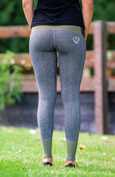 Youth Performance Tights - Military Grey