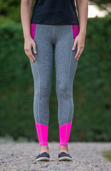 Youth Performance Riding Tights - Malibu