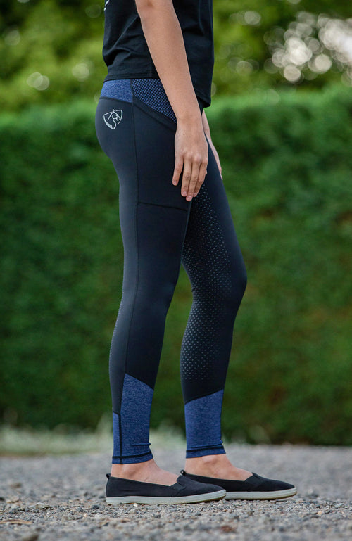 BARE Performance Riding Tights - Blue Storm