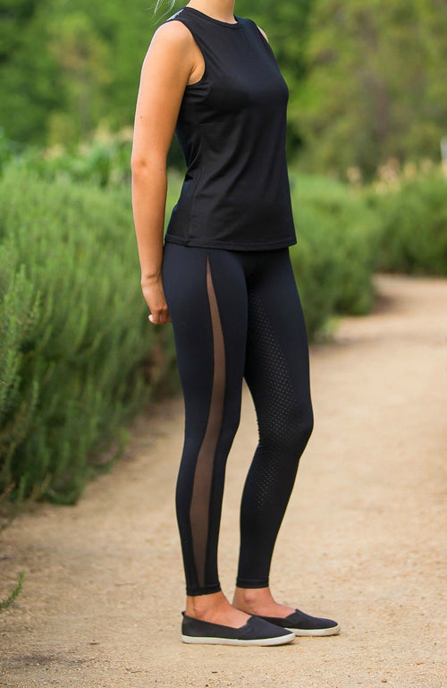 No Grip Tights Adults Bare Equestrian
