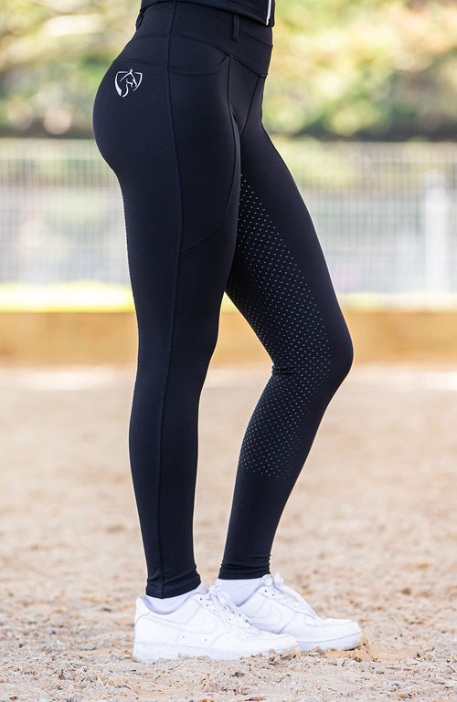 No Grip BARE ThermoFit Winter Riding Tights - Black