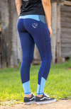 Youth Performance Tights - Sky (Navy and Light Blue)