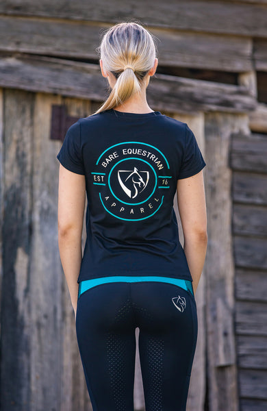 BARE Emblem T-Shirt - Black and Teal