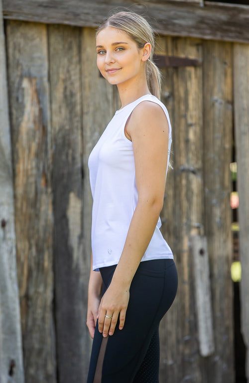 BARE Tank Top - White/White