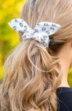 BARE Bunny Scrunchie - White