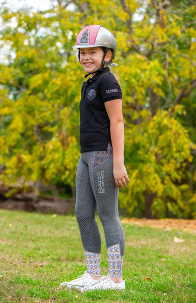 Youth Performance Riding Tights - Aztec