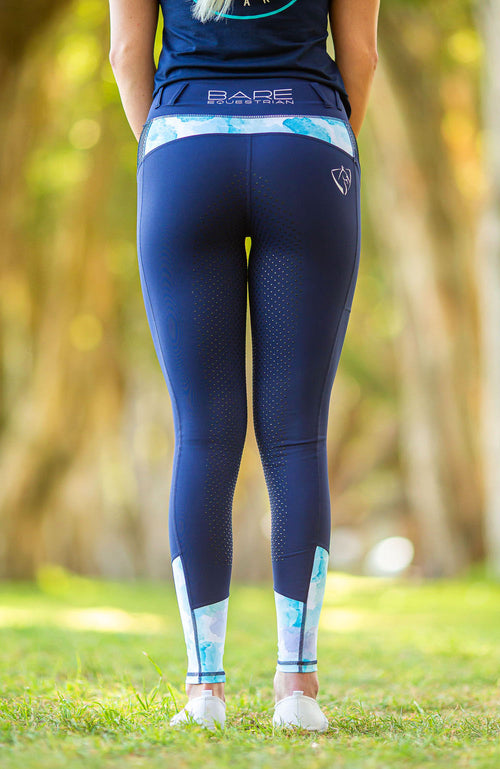 BARE Performance Riding Tights - Oxford Splash