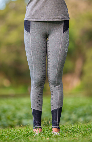 BARE Performance Riding Tights - Grey Cat