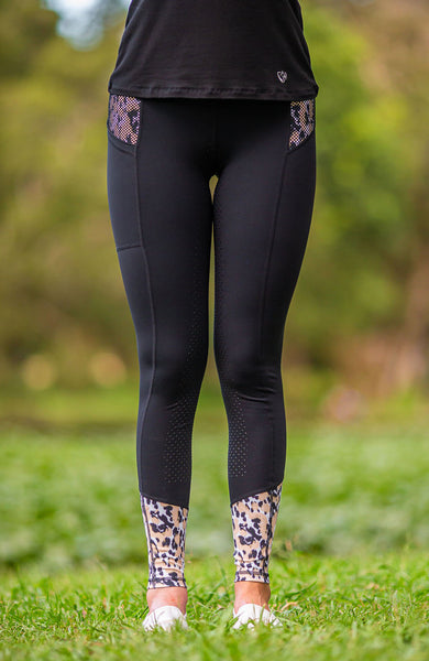 BARE Performance Riding Tights - Leopard