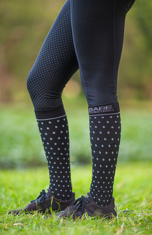 BARE ECOLUXE Recycled Ladies Sock - Polka Dot