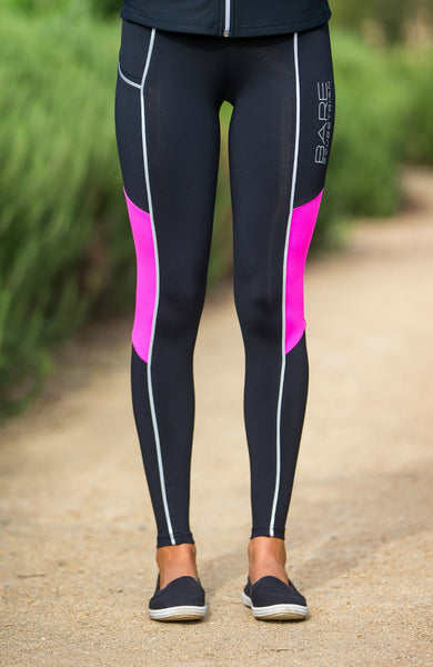 Youth Performance Tights - REFLECTIVE Pink